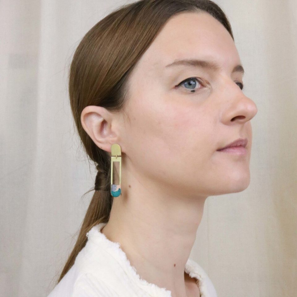 Victoria Myatt, Acer Earrings in Coral, Tomfoolery