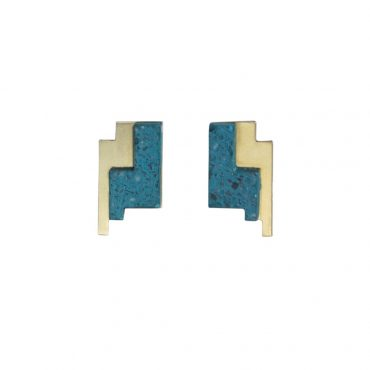 Victoria Myatt, Coris Earrings in Teal, Tomfoolery