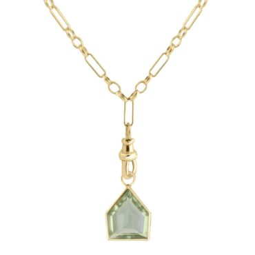 tomfoolery: Metier by tomfoolery Green Amethyst 'Maison' Eiffel Light Chain Necklace
