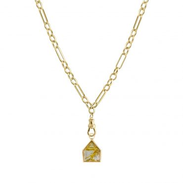 tomfoolery: Metier by tomfoolery maison rutilated quartz eiffel heavy chain necklace