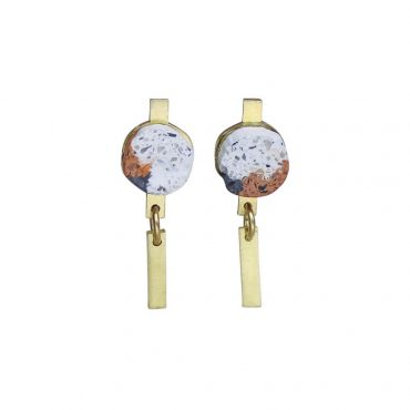 Victoria Myatt, Spar Earrings in Rust, Tomfoolery