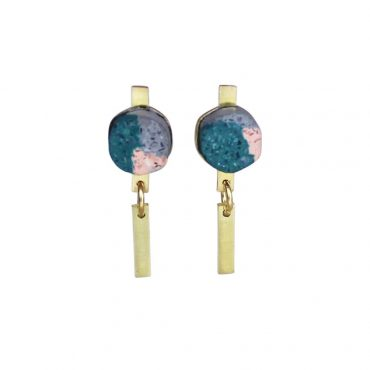 Victoria Myatt, Spar Earrings in Teal, Tomfoolery