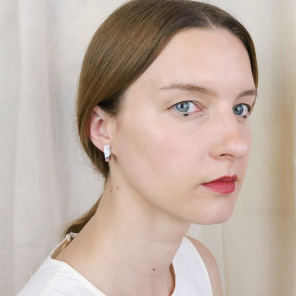 Victoria Myatt, Tine Earrings in Coral, Tomfoolery