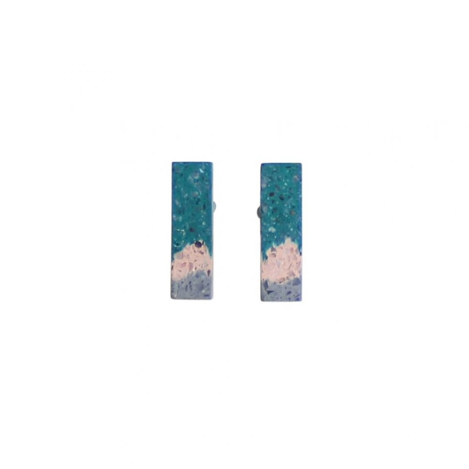 Victoria Myatt, Tine Earrings in Teal, Tomfoolery