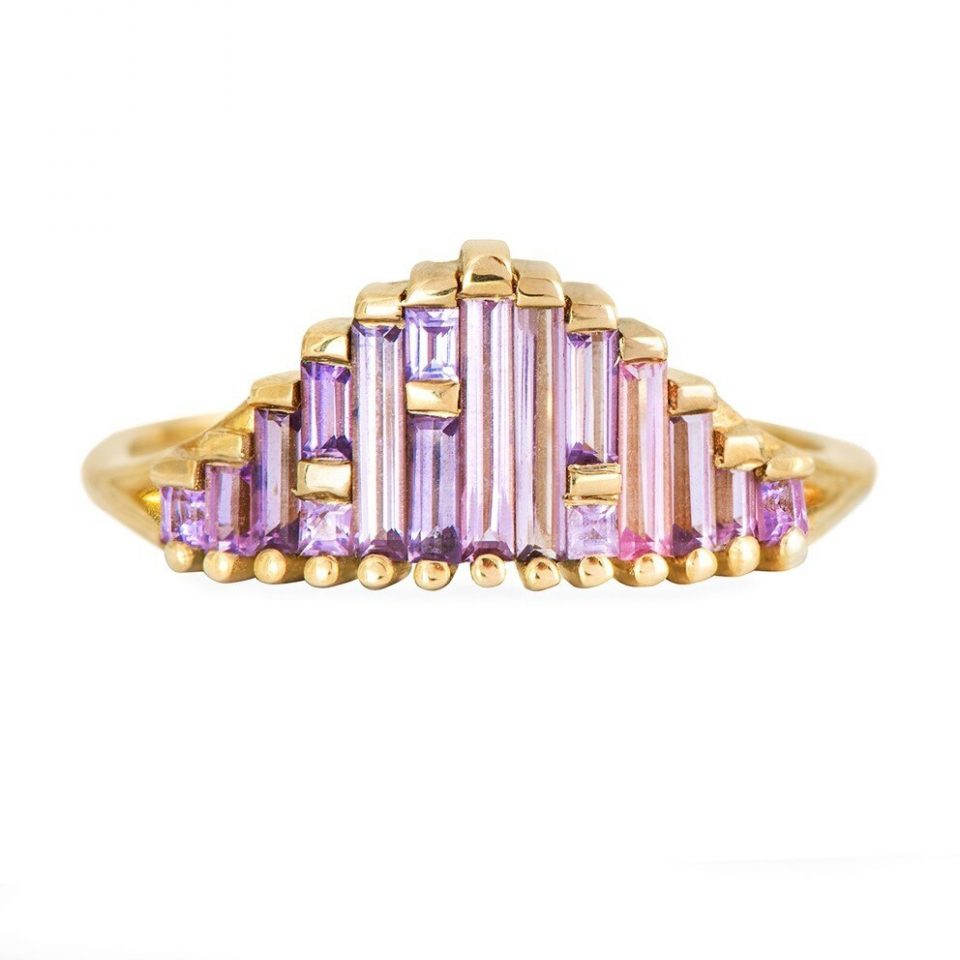 tomfoolery: Art Deco Sapphire Ring in Lilac by Artemer