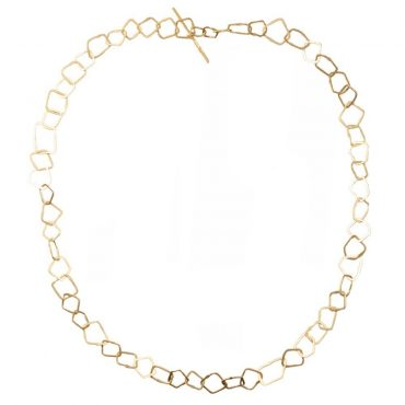 tomfoolery: Gold Plated Silver Irregular Link Necklace by Bea Jareno