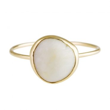 tomfoolery: 18 Carat Gold White Pebble Ring, Atelier Errikos
