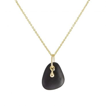 tomfoolery: 18ct Gold Drop & Pebble Pendant, Atelier Errikos