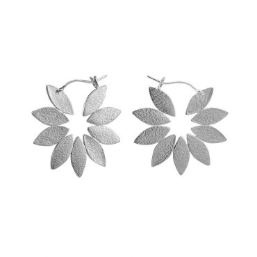 tomfoolery: icarus silver fanned hoop earrings by cara tonkin