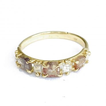 tomfoolery: rose cut diamond 14ct gold ring by atelier narce