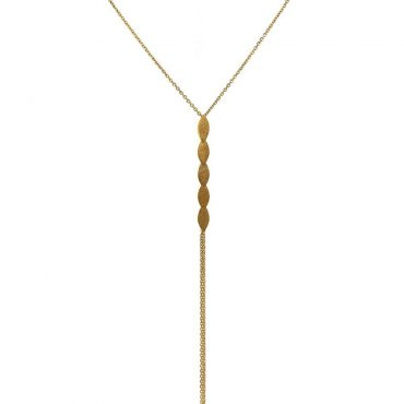 tomfoolery: icarus gold plated lariat necklace by cara tonkin