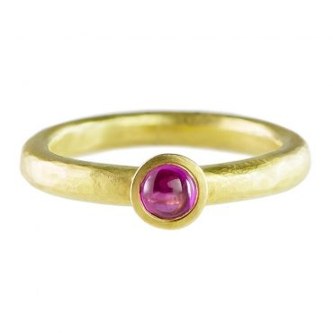 tomfoolery: 18ct Yellow Gold Ruby Ring by Catherine Mannheim