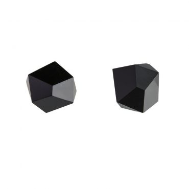 tomfoolery: black faceted stud earrings by Beira