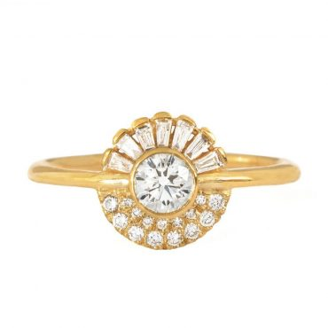 tomfoolery: Round Diamond Cluster Engagement Ring by Artemer