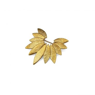 tomfoolery: icarus gold plated brooch by cara tonkin