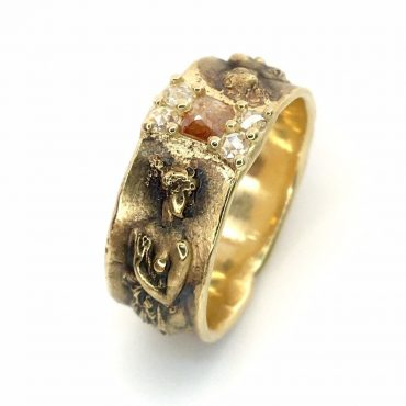"""tomfoolery: ROSECUT DIAMOND 14CT GOLD """"DIVINE TO LOVE"""" RING by Atelier Narce"""