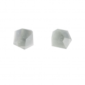 tomfoolery: white faceted stud earrings by Beira