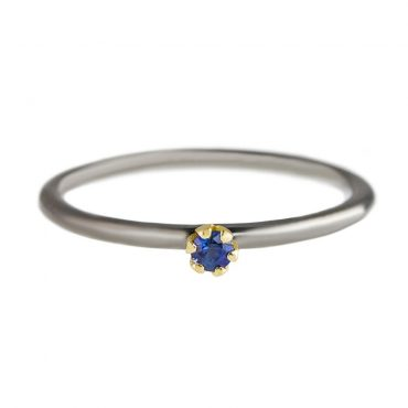 tomfoolery:  Rhodium Plated Silver & 14 Carat Gold Sapphire  Ring by Atelier Errikos