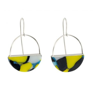 tomfoolery:  Multi Coloured Yellow Half Hoop Earrings by beira
