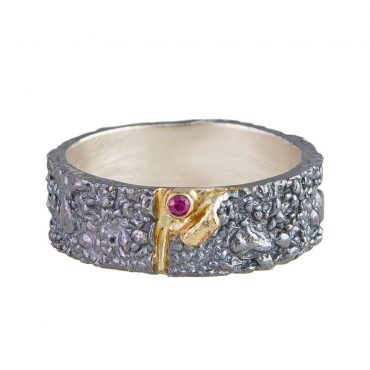 Tomfoolery, Apostolos: Oxidised Silver and Ruby Reveal Ring