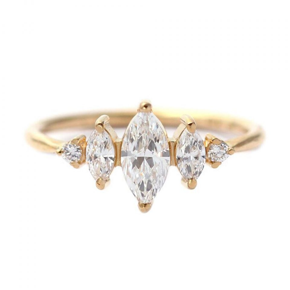 tomfoolery: Art Deco Marquise Diamond Engagement Ring by Artemer