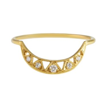 14ct Yellow Gold Diamond Væda Ring, tomfoolery, dmd
