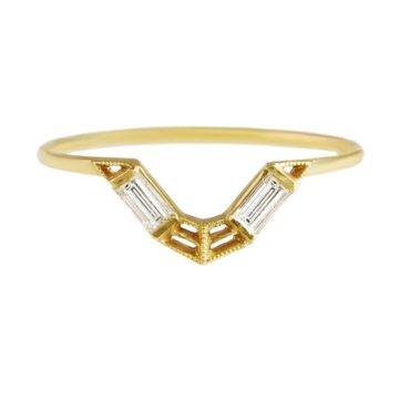 tomfoolery, 14c t yellow gold elleyo ring, dmd
