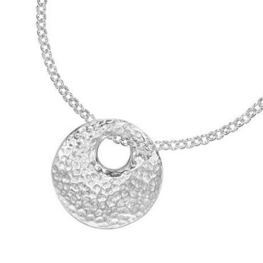 Silver Hammered Round Bean Necklace, Tomfoolery, Dower & Hall