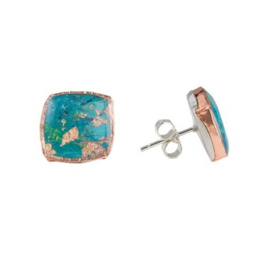 tomfoolery, speckled square studs