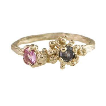 tomfoolery, 9ct Yellow Gold, Spinel & Diamond 'Sun Bark Explosion' Ring, Eily O'Connell
