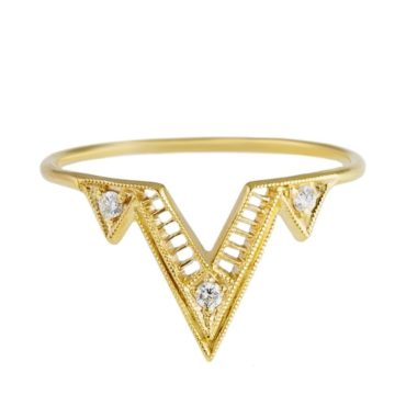 tomfoolery 14ct Yellow Gold Diamond Giza Ring, DMD