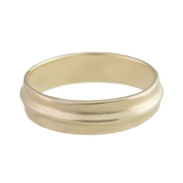 n+a New York, Satin 14ct Yellow Gold Wedding Ring, Tomfoolery