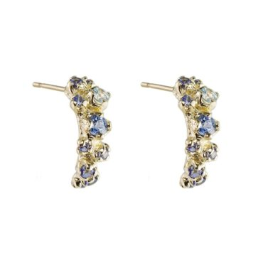 n+a New York, 14ct Yellow Gold Wisteria Earrings, Tomfoolery