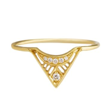 Tomfoolery, 4ct Yellow Gold Diamond Zilfa Ring, dmd