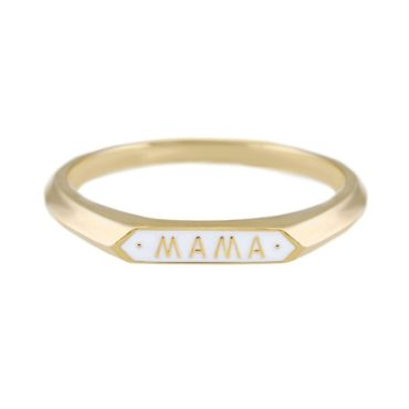 Nora Kogan, Enamel & 14ct Yellow Gold 'Mama' Ring, Tomfoolery