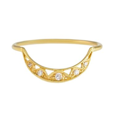 14ct Yellow Gold Diamond Honora Ring, tomfoolery, dmd