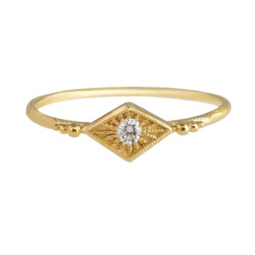 Tomfoolery, 14ct Yellow Gold Diamond Naoma Ring, dmd