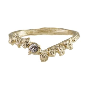 tomfoolery,  9ct Yellow Gold & Diamond Ring,Eily O'Connell