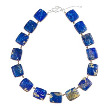 tomfoolery, speckled statement necklace, dee barnes