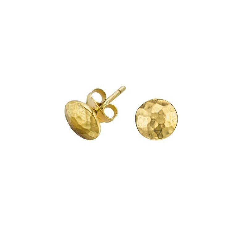 tomfoolery, hammered circle studs, dower & hall
