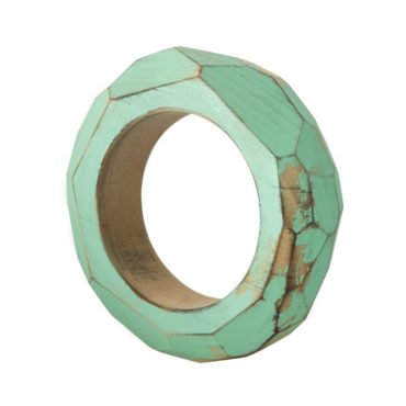 Tomfoolery, Large Faceted Wooden Mint Green Bracelet, Cristina Zani