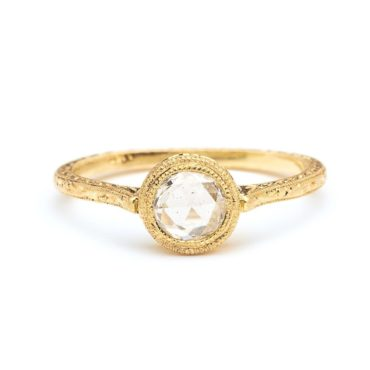 Rose Cut Round Diamond Cathedral Ring, Diana Mitchell, Tomfoolery