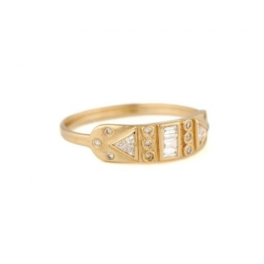 tomfoolery, 14ct Yellow Diamond Totem Ring, celine daoust