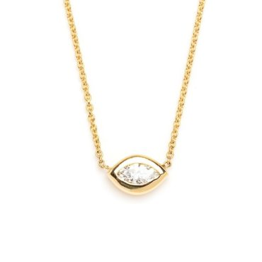 tomfoolery, marquise diamond necklace, diana mitchell