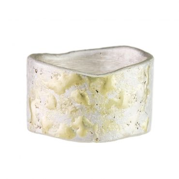 Samantha Queen, Wide Silver & 18ct Gold Organic Ring, Tomfoolery