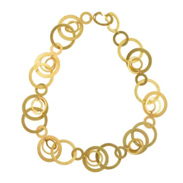 Orbital Repeat Gold Statement Necklace