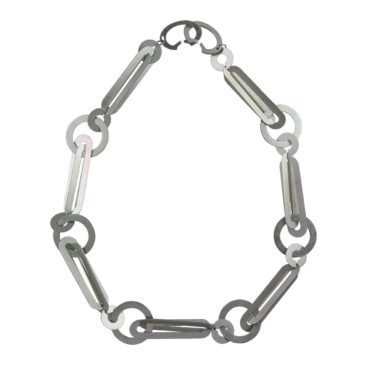 Entwined Orbital Repeat Steel Statement Necklace