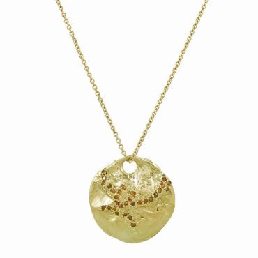 Tomfoolery, 14ct Yellow Gold 'XLVII' Scatter Pendant Necklace, Ellis Mhairi Cameron