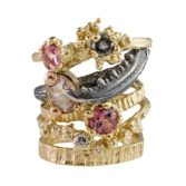 Silver & 9ct Gold Morganite Engagement Ring, tomfoolery, eily o'connell, alt.bride