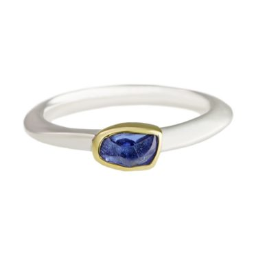 Margoni, Irregular Tanzanite 18ct Yellow Gold & Silver Ring, Tomfoolery